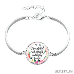 She is Clothed with Strength and Dignity Bracelet