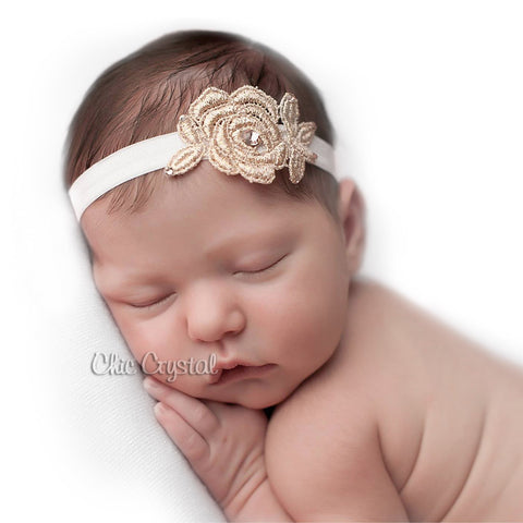 Rose Gold Headband - Chic Crystals