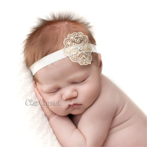 Lace Headband - Chic Crystals