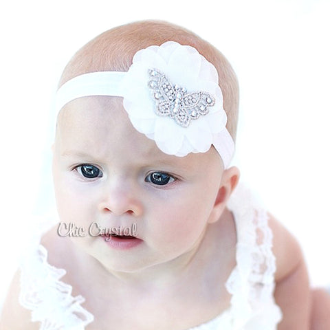 Lace Butterfly Headband - Chic Crystals