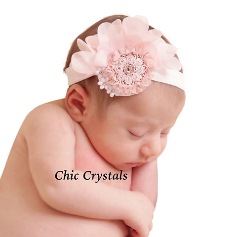 Chiffon Crystals Headband - Chic Crystals