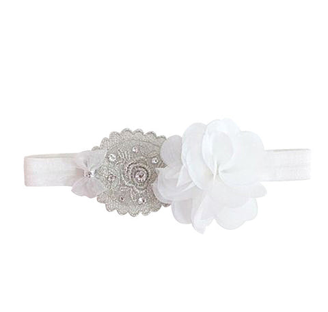 Lace Chiffon Band - Chic Crystals