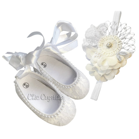 Crib Shoes Set - Chic Crystals