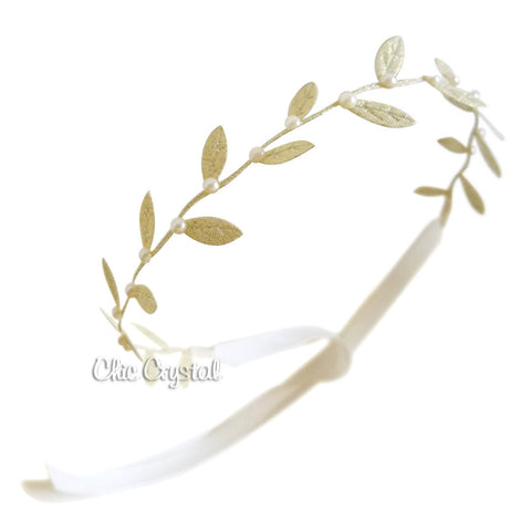 Gold Leaf Head Wrap - Chic Crystals