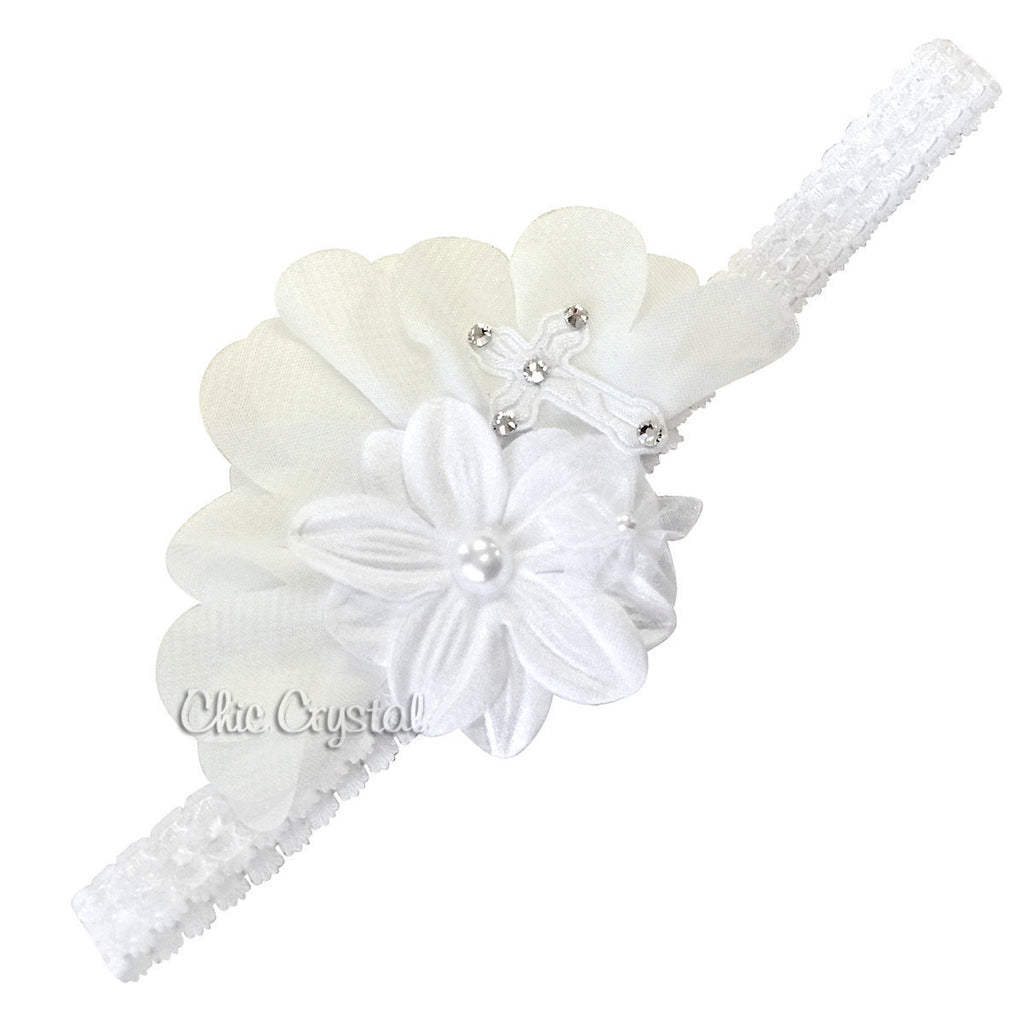 Buy fabric flower christening headband online baby hairbands christening headband chic crystals mightylinksfo