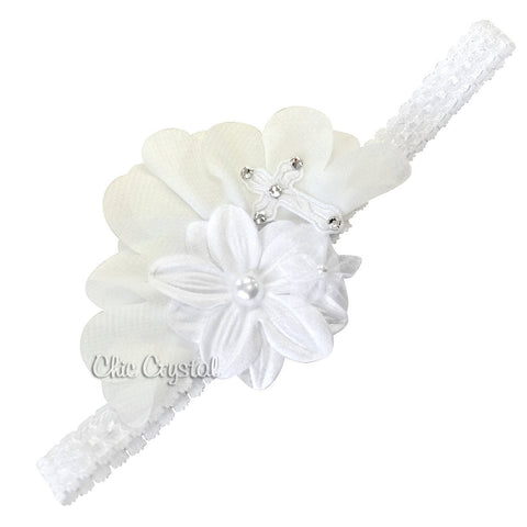 Christening Headband - Chic Crystals