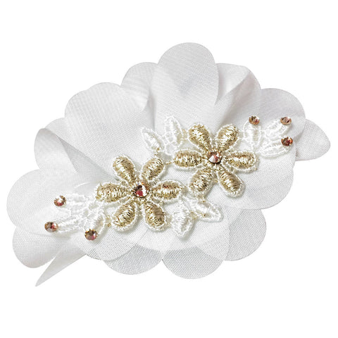 Rosette Hair Clip - Chic Crystals