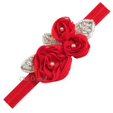 Red Pearl Flower Headband - Chic Crystals