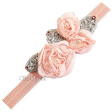 Shabby Flower Headband - Chic Crystals