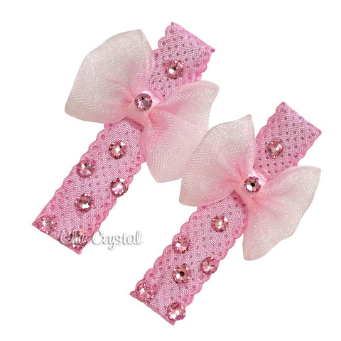 Bow Clip Set - Chic Crystals