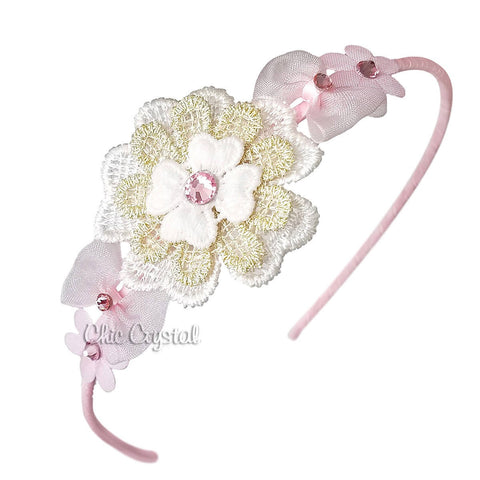 Flower Hard Band - Chic Crystals