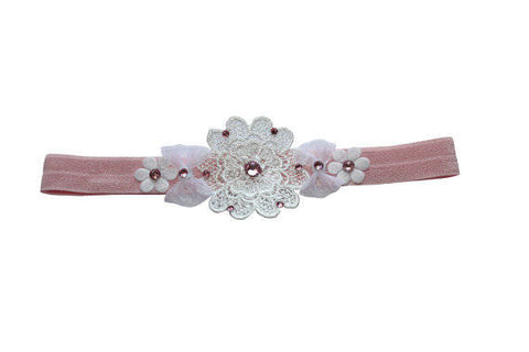 Flower Band with Bows - Chic Crystals