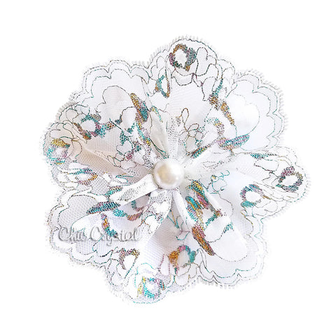 Lace Hair clip with Pearl - Chic Crystals