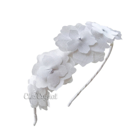 Chiffon Flower Headband - Chic Crystals