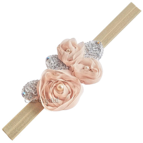 Flower Headband - Chic Crystals