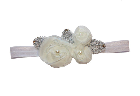 Shabby Flower Band - Chic Crystals