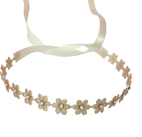 Tan Flower Wrap - Chic Crystals
