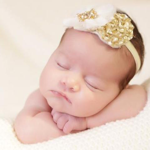 Ivory Gold Headband - Chic Crystals