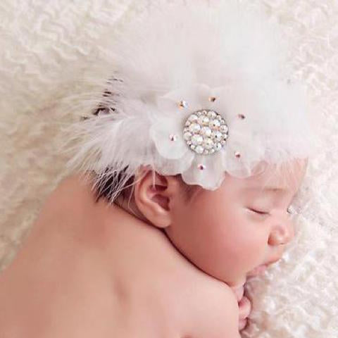 Feather Headband - Chic Crystals