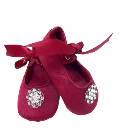 Baby Girl Crib Shoes - Chic Crystals