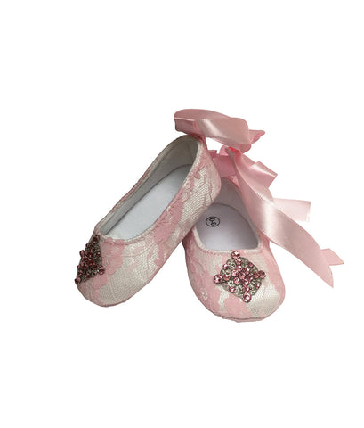 Lace Baby Shoes - Chic Crystals
