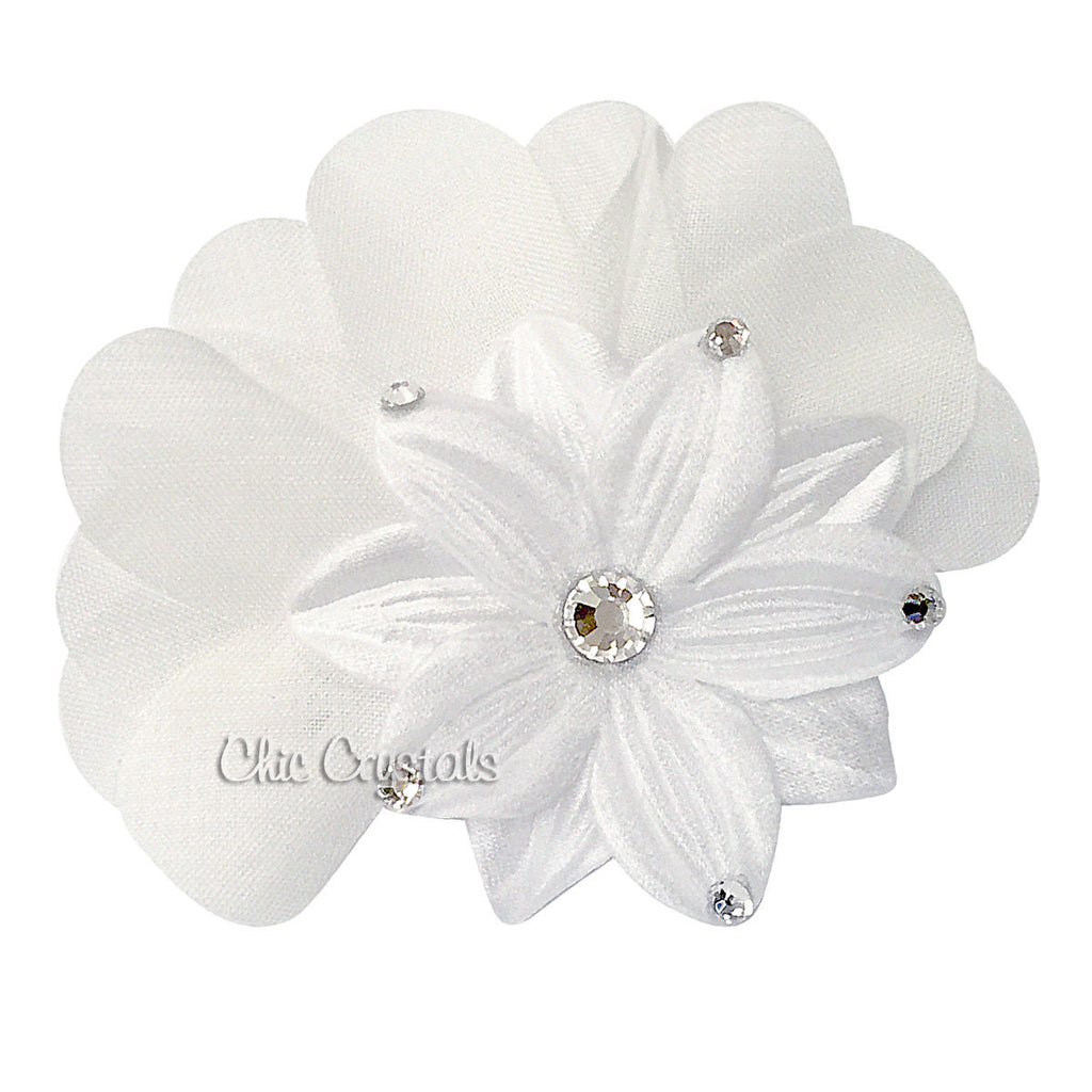Flower Hair Clip Chic Crystals