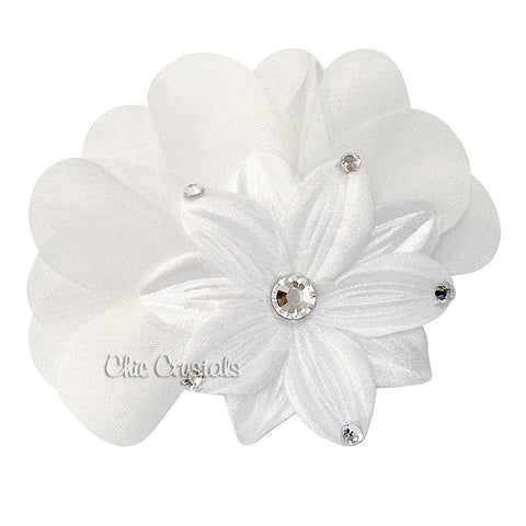 Flower Hair Clip - Chic Crystals