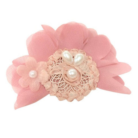 Mauve Pearl Hair Clip - Chic Crystals