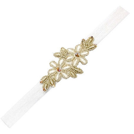 Rose Vintage Headband - Chic Crystals