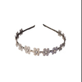 Flower Hard Headband - Chic Crystals