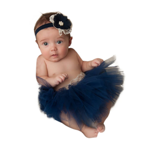 Navy Blue Tutu Set