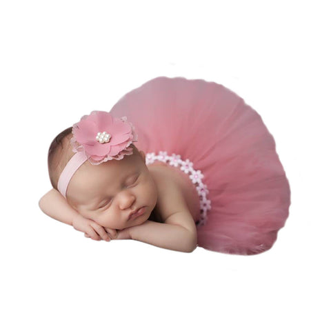 Mauve Tutu Head Band Set