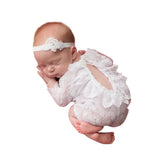 White Newborn Romper - Chic Crystals