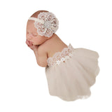 Ivory Tutu Band Set - Chic Crystals