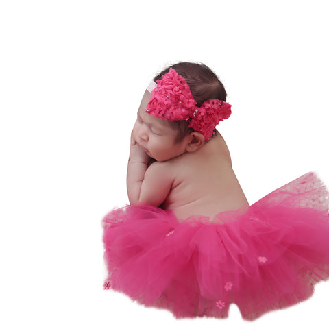 Fancy Bow Tutu Band Set