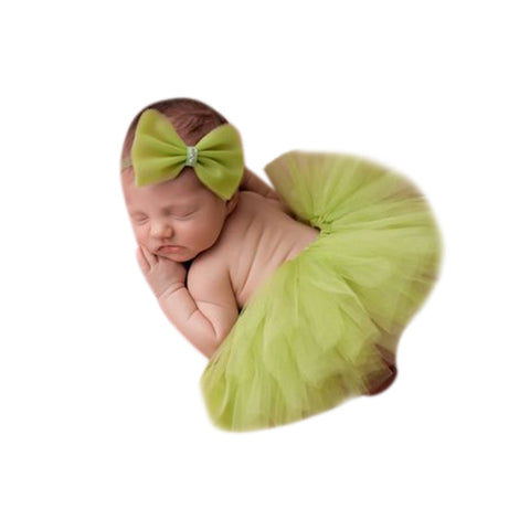 Green Newborn Tutu Set