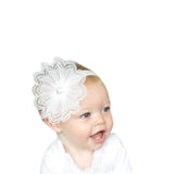 White Lace Headband - Chic Crystals