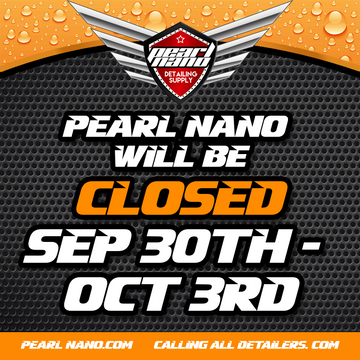 Pearl Nano will be Closed September 30th - October 3rd