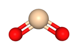 Model of silicon dioxide, or SiO2