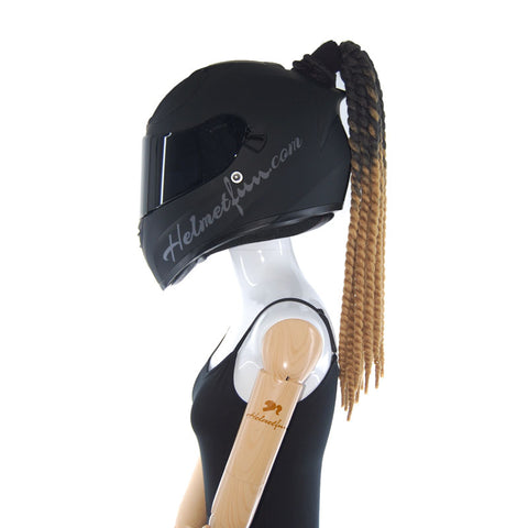 Cute Scooter Helmet Ponytail Green