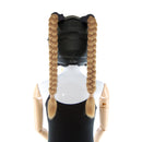 Braided Helmet Pigtails Single Color
