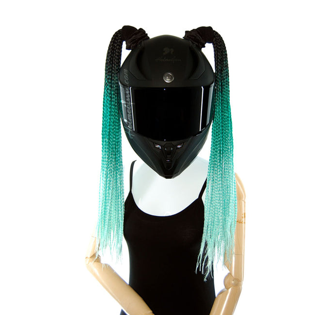 Helmet Pigtails Box Braids