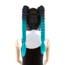 Helmet Pigtails Ombre Color
