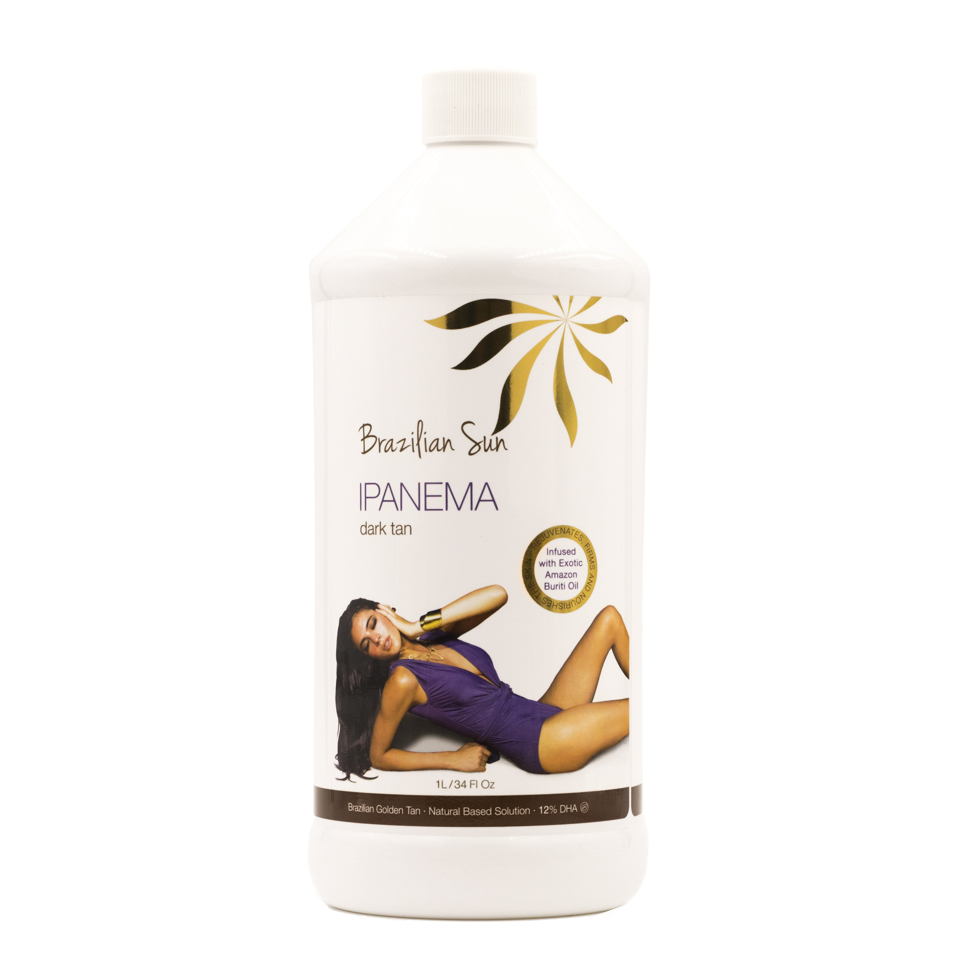 IPANEMA – DARK TAN - NATURAL BASED TANNING SOLUTION  12% DHA - Brazilian Sun