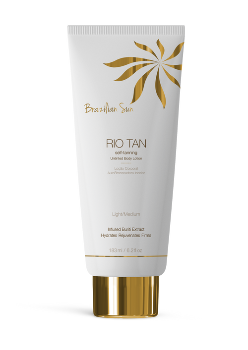 Brazilian Sun  Self-Tanning  clear Tan Lotion - LIGHT/MEDIUM - 6.2oz