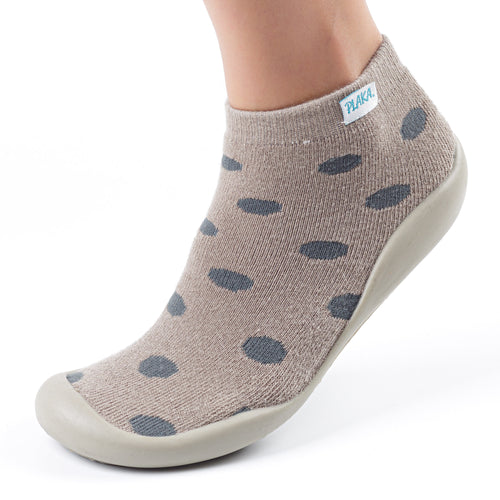 Slipper Socks for Women | Beige & Dots