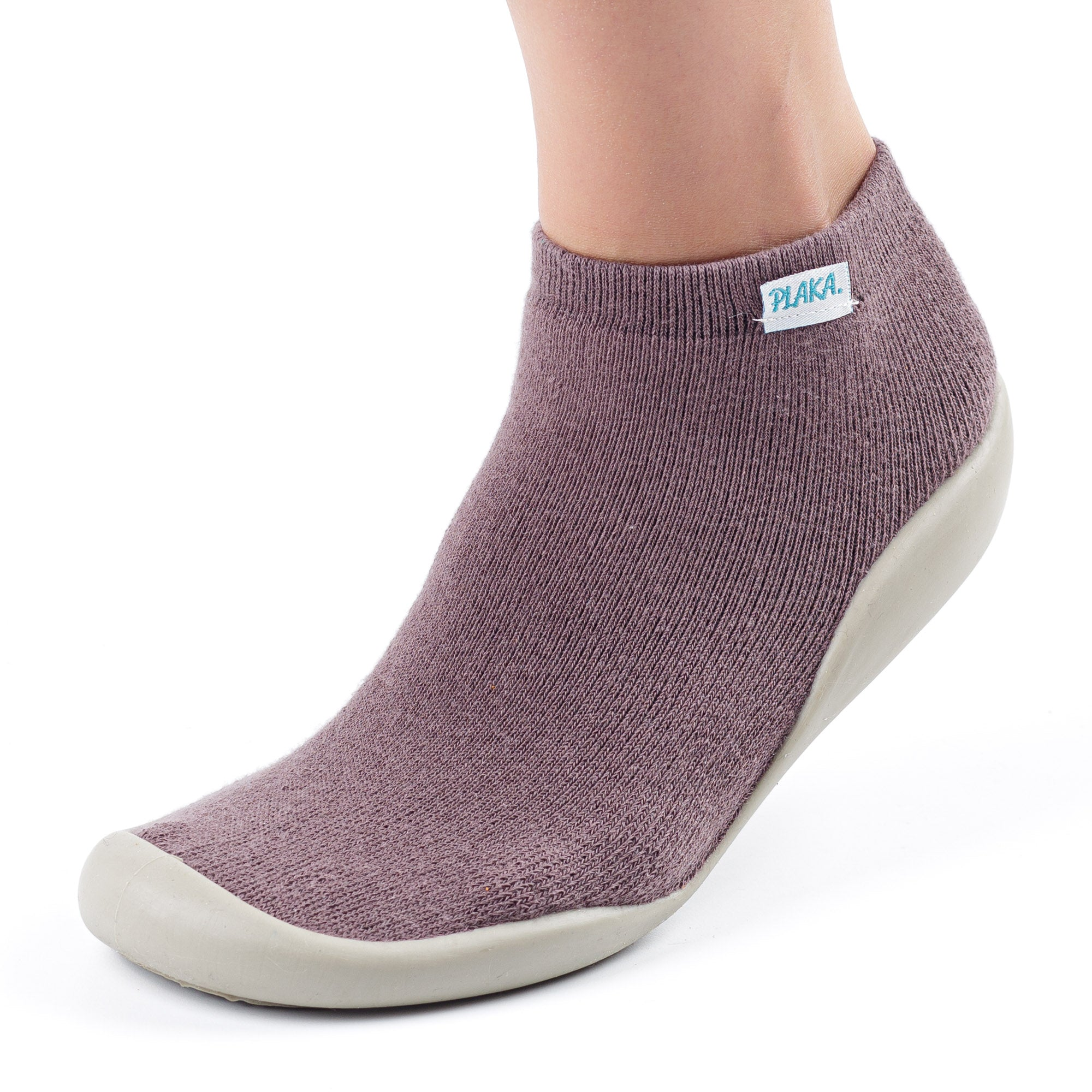 Slipper Socks for Women | Eggplant