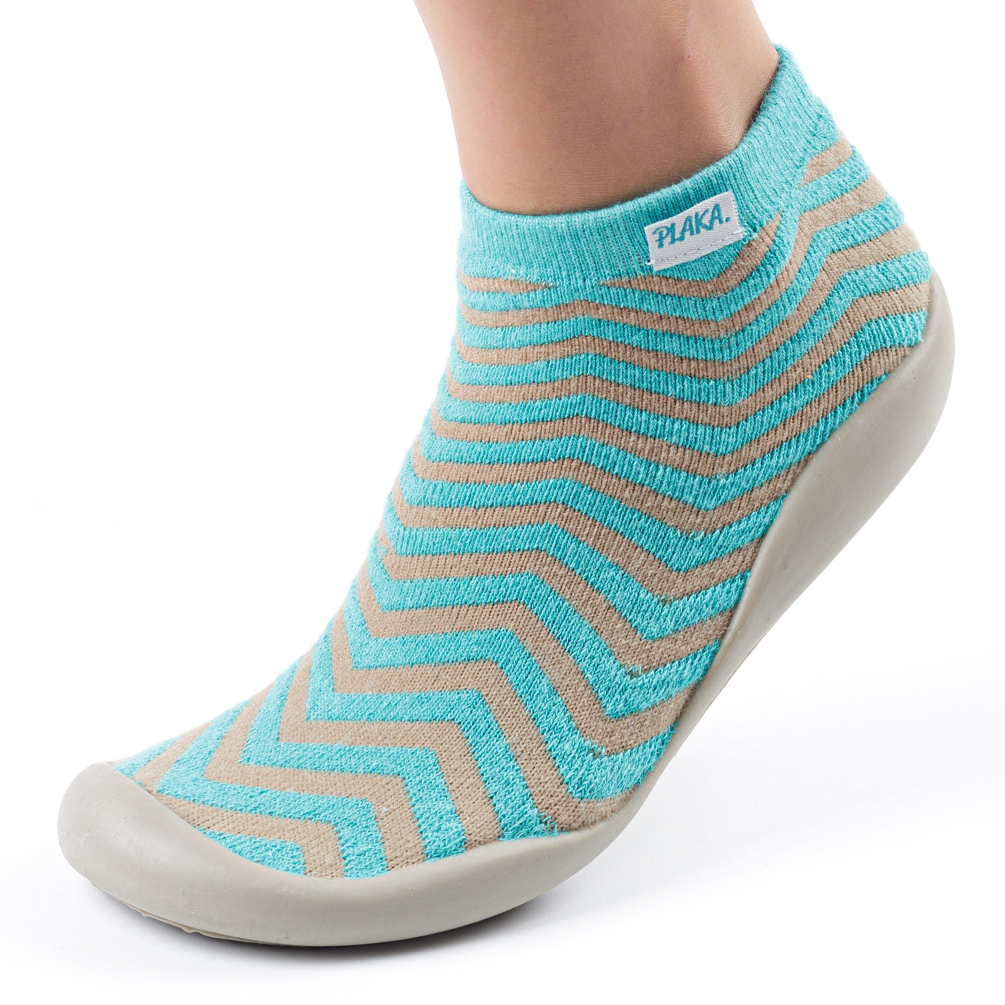 Slipper Socks for Women | Turquoise Brown