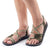 Palm Leaf Flat Women's Sandals | Ivory Green