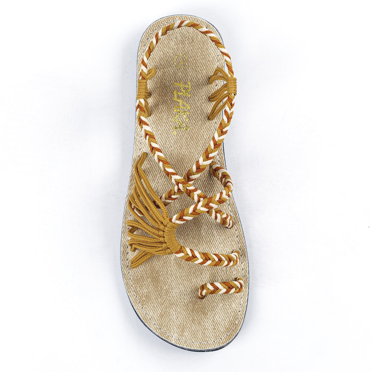 Palm Leaf Flat Women's Sandals | Negev